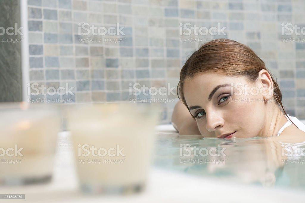 Hot tub at spa royalty-free stock photo