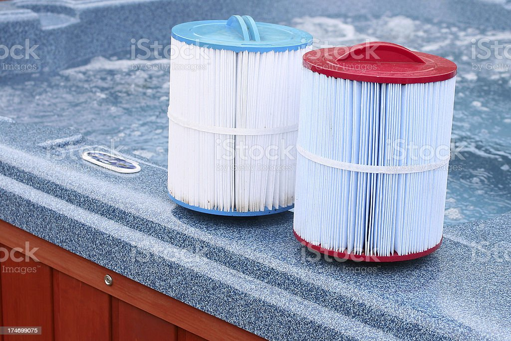 Hot Tub Filters royalty-free stock photo