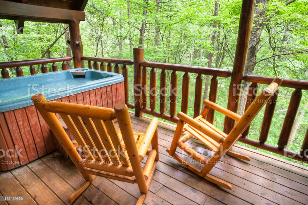 Hot Tub in the Woods (XXL) royalty-free stock photo