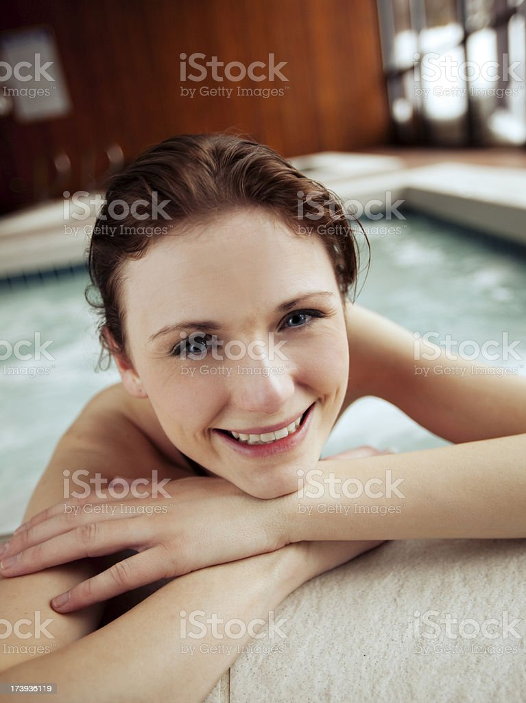 Hot Tub Relaxation stock photo