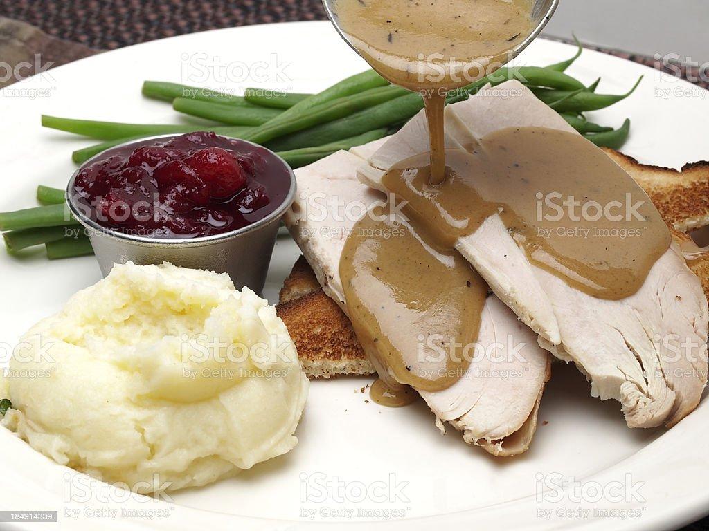 Hot Turkey Sandwich royalty-free stock photo