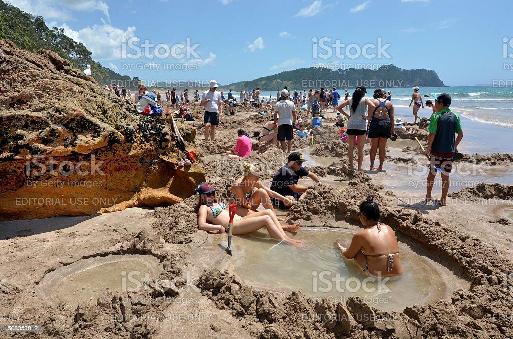 Hot Water Bech - New Zealand stock photo