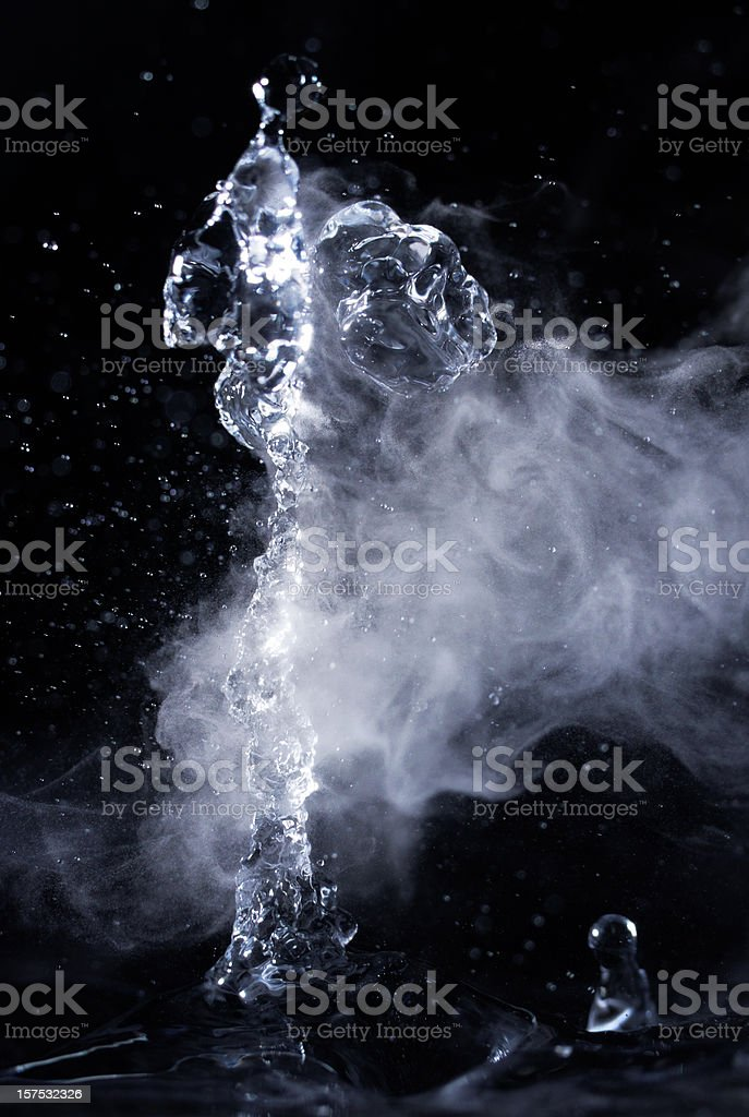 Hot water dance stock photo