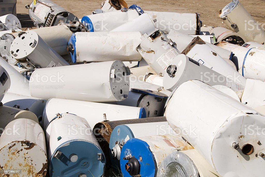 Hot Water Tank Graveyard royalty-free stock photo