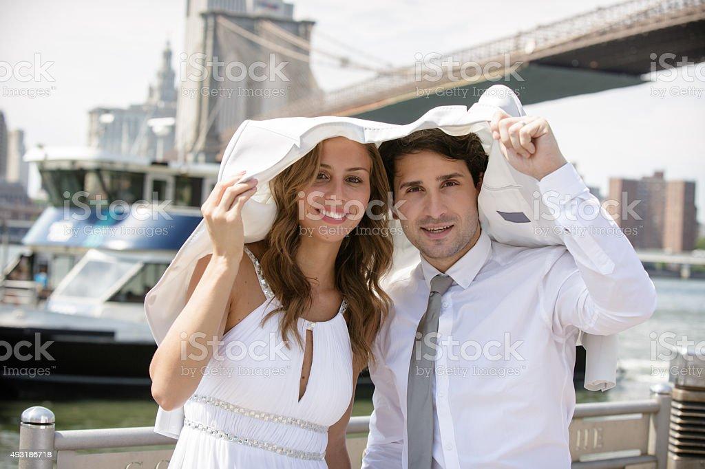 Hot wedding day stock photo