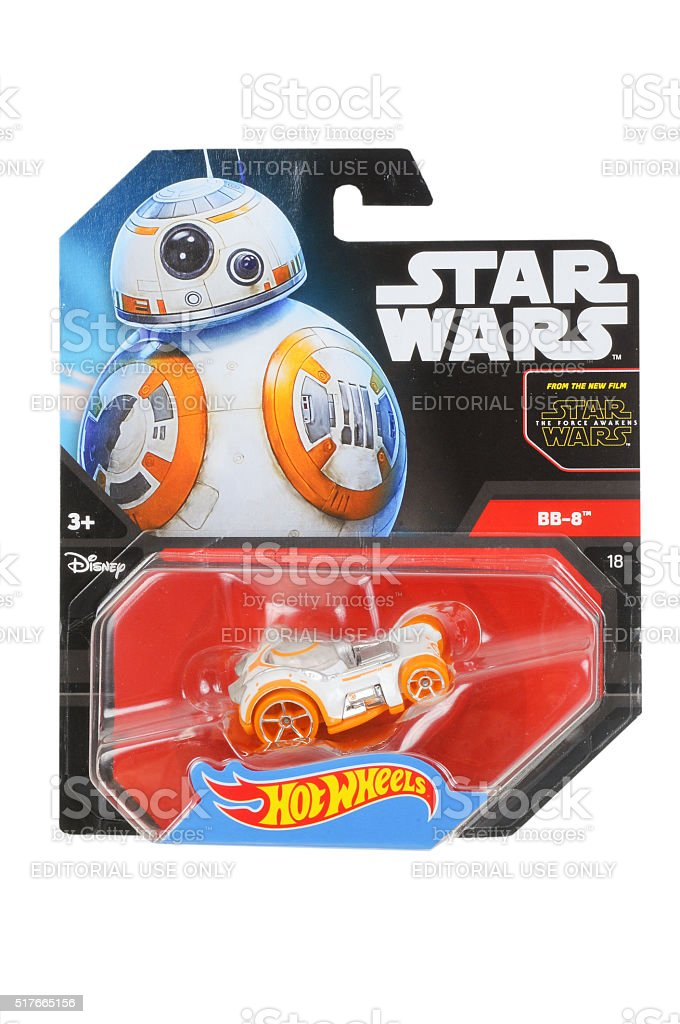 BB-8 Hot Wheels Diecast Toy Car stock photo
