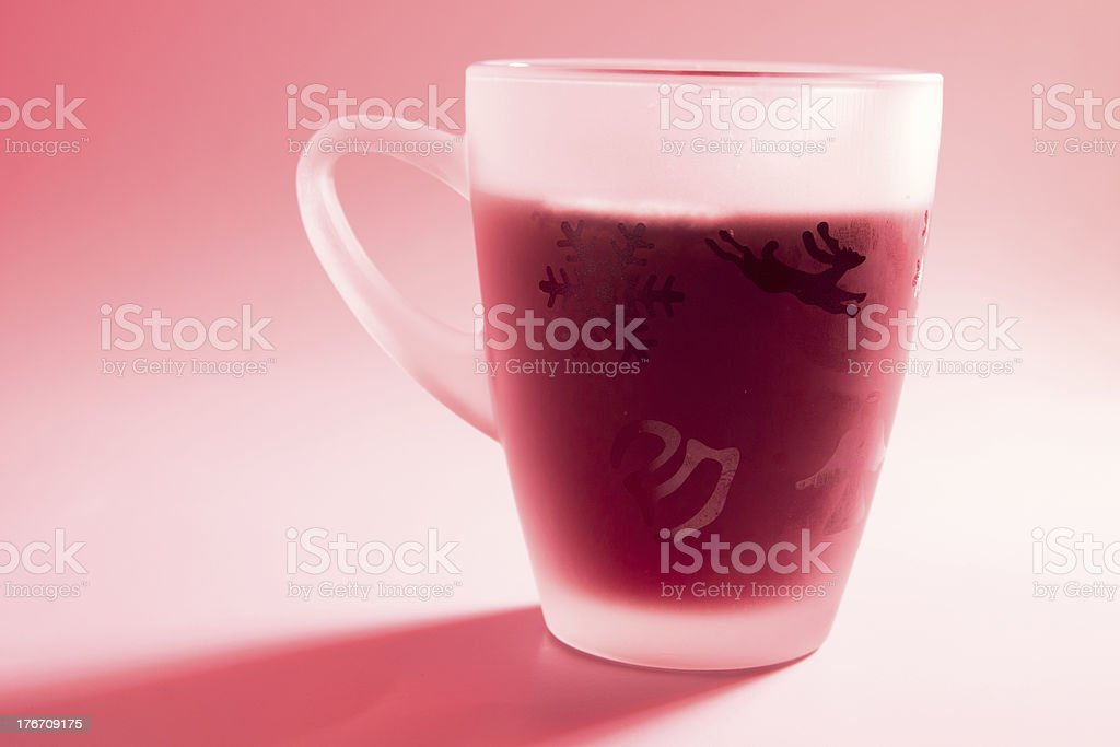 Hot wine punch stock photo