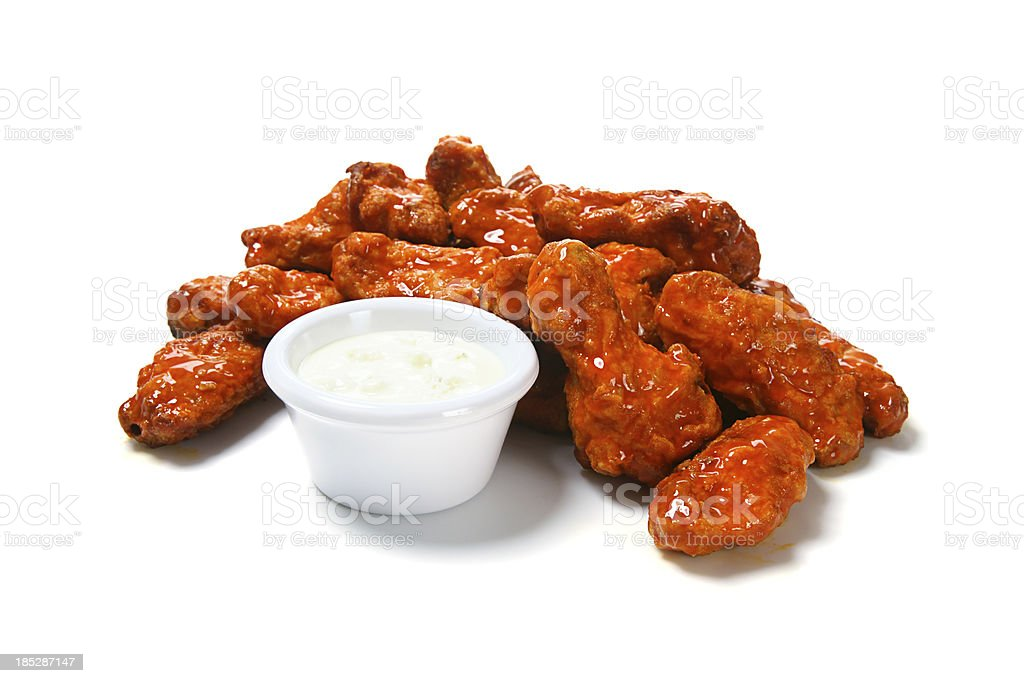 Hot Wings with Bleu Cheese stock photo