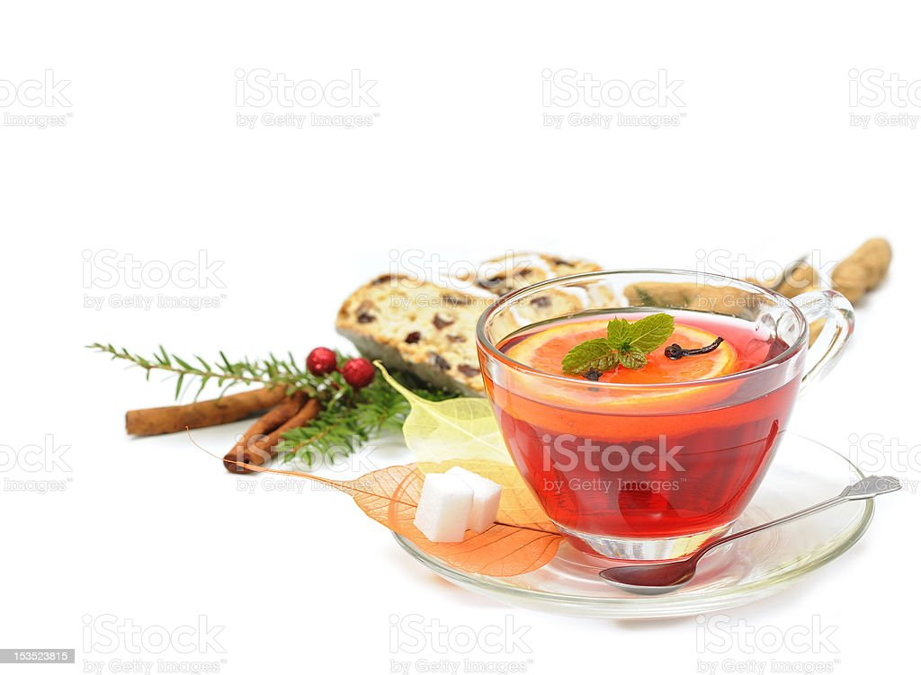 Gorący, zimowy herbaty zbiór zdjęć royalty-free