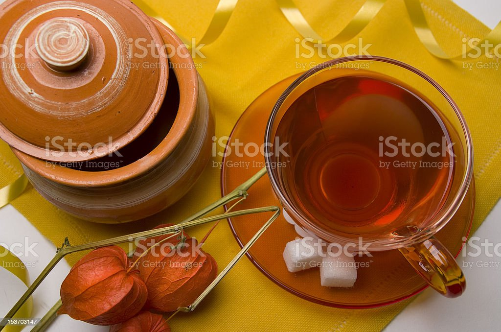 Hot winter tea royalty-free stock photo