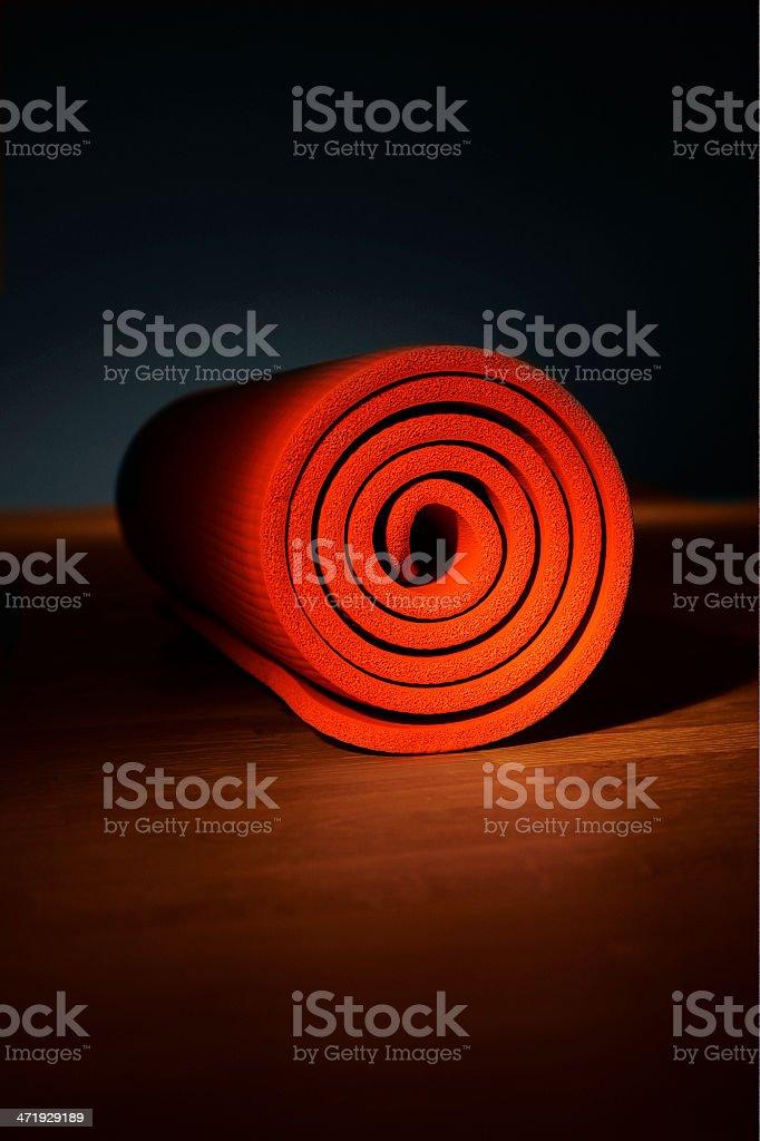 hot yoga mat stock photo