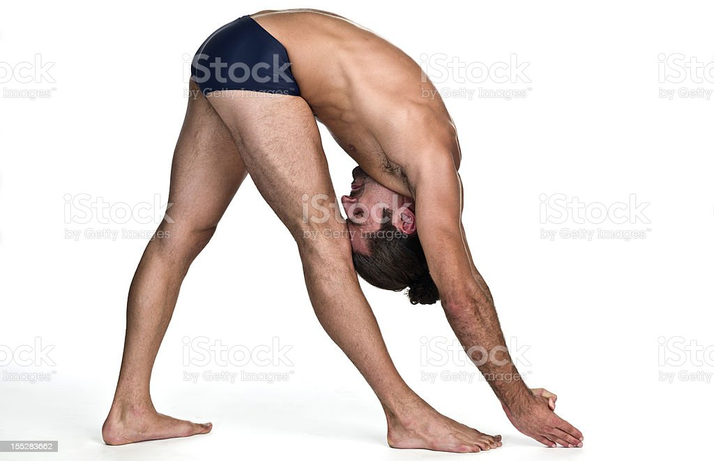 Hot Yoga Pose (Dandayamana Janushirasana) stock photo