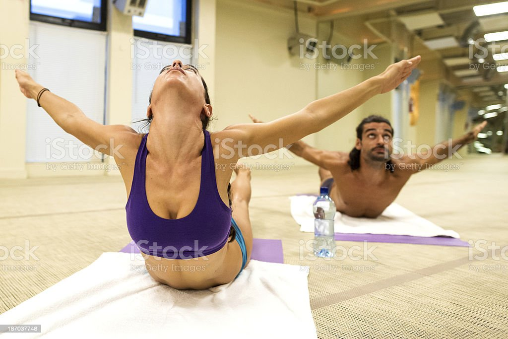 Hot Yoga Pose stock photo