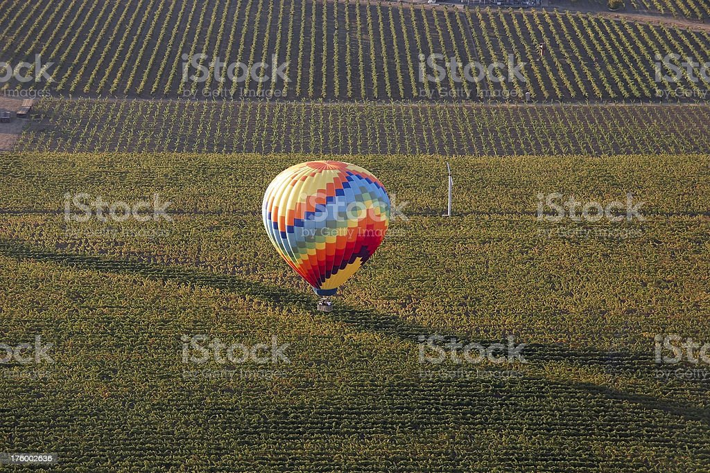 Hot-air balloon landing royalty-free stock photo