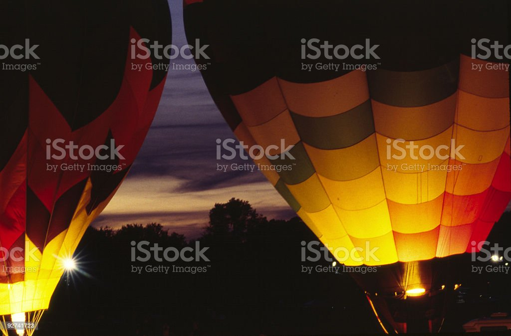 Hot-Air Balloon - Nighttime royalty-free stock photo