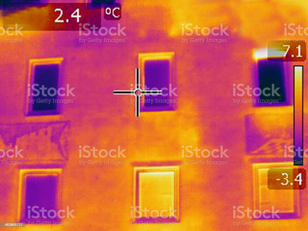 hot-cold-Thermal Imaging infrared Diagnostics stock photo