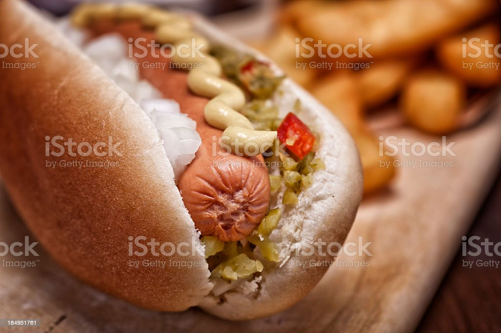 Hotdog and Fries stock photo