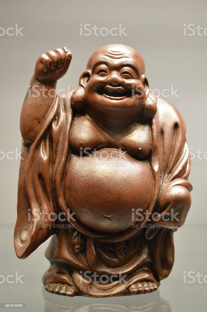 Hotei, God of contentment and happiness stock photo