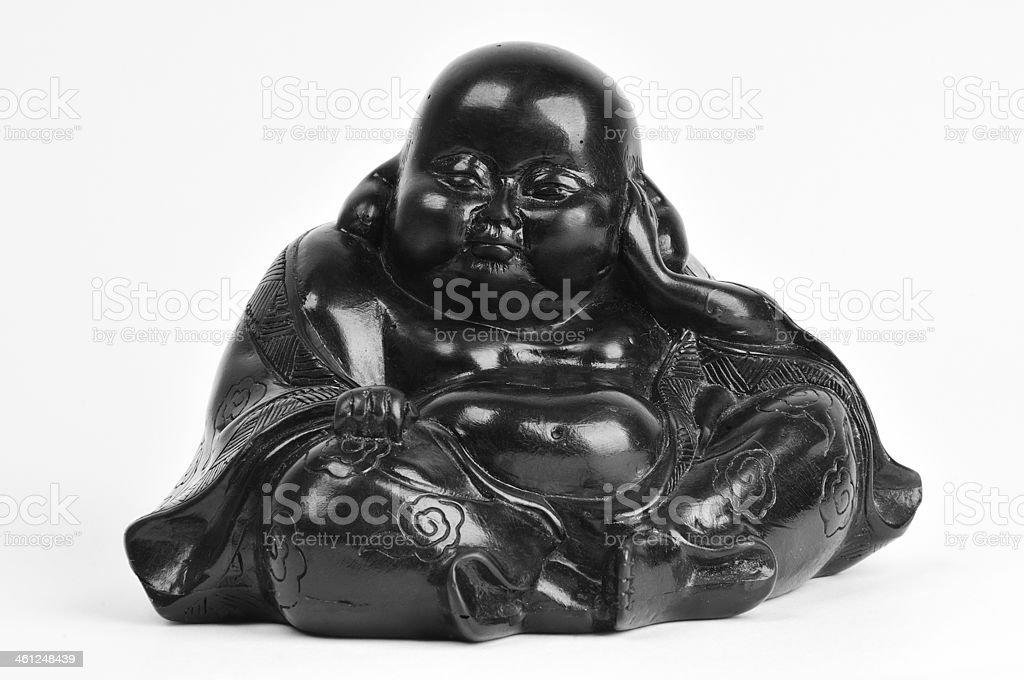 Hotei - the god of happiness stock photo