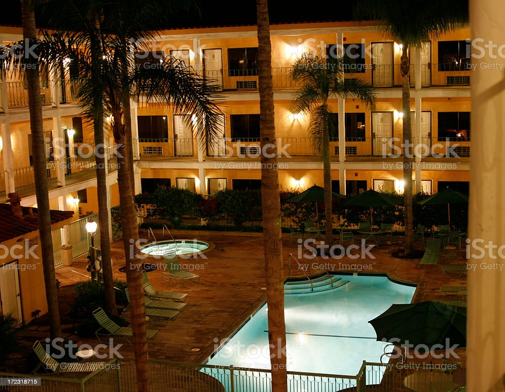Hotel 3rd Floor View royalty-free stock photo