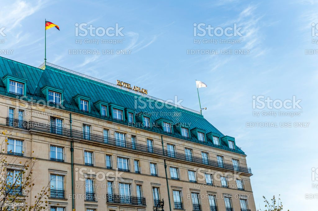 Hotel Adlon in Berlin stock photo
