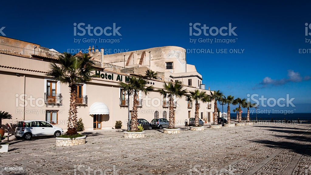 Hotel Al Madarig in Castellammare del Golfo stock photo