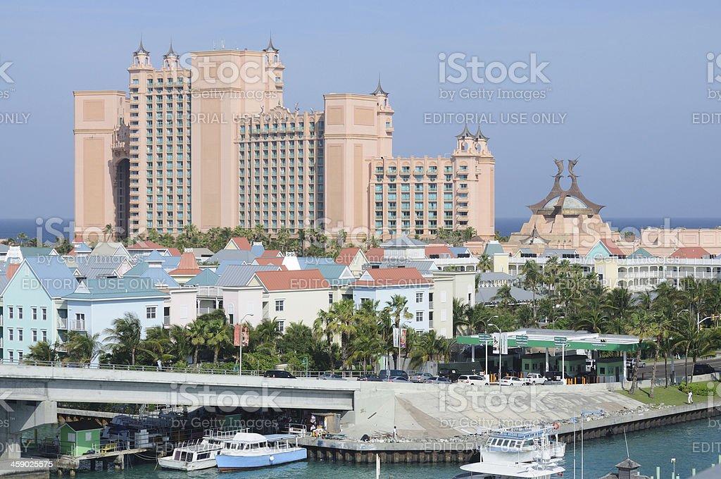 Hotel & Apartments - Paradise Island stock photo
