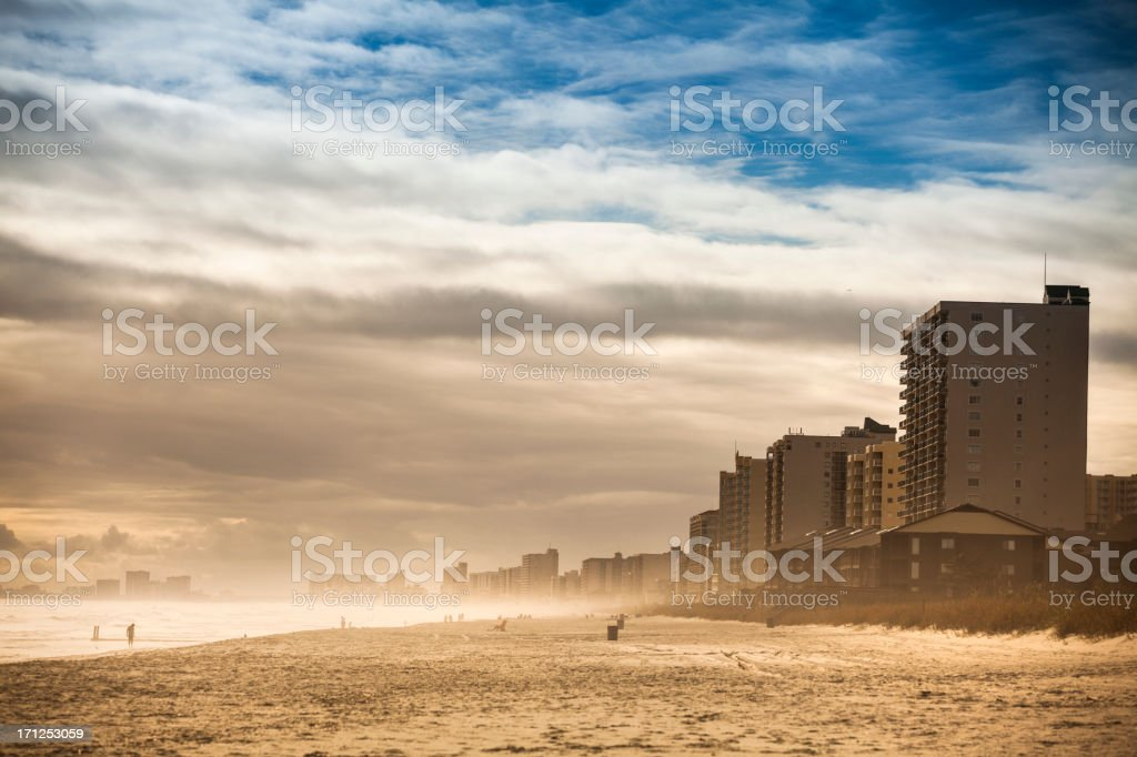 Hotel and condos on Myrtle Beach stock photo