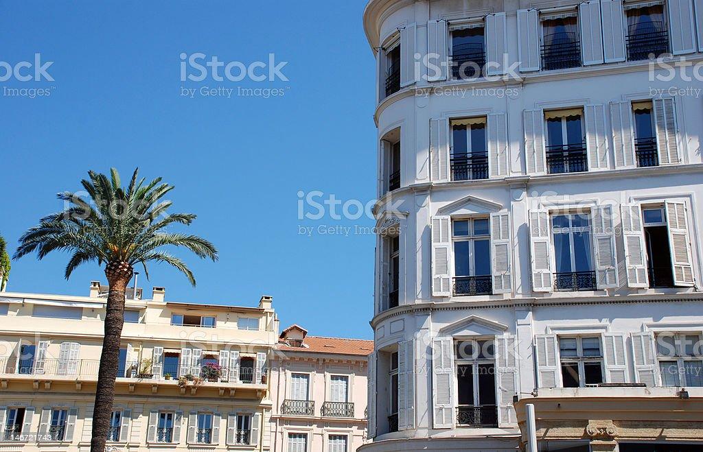 Hotel and palmtree royalty-free stock photo