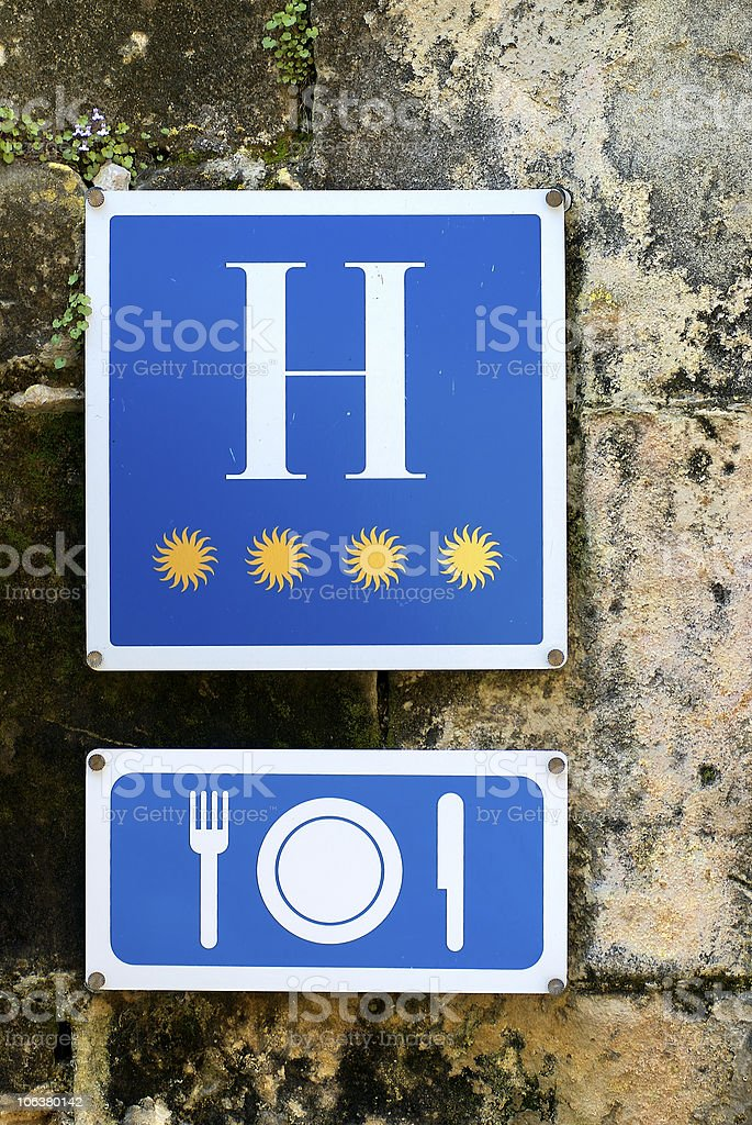 Hotel and restaurant royalty-free stock photo