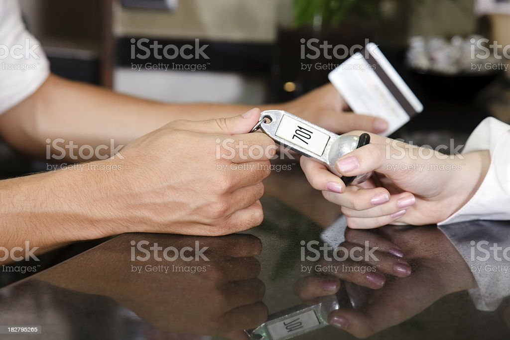Hotel arrival royalty-free stock photo