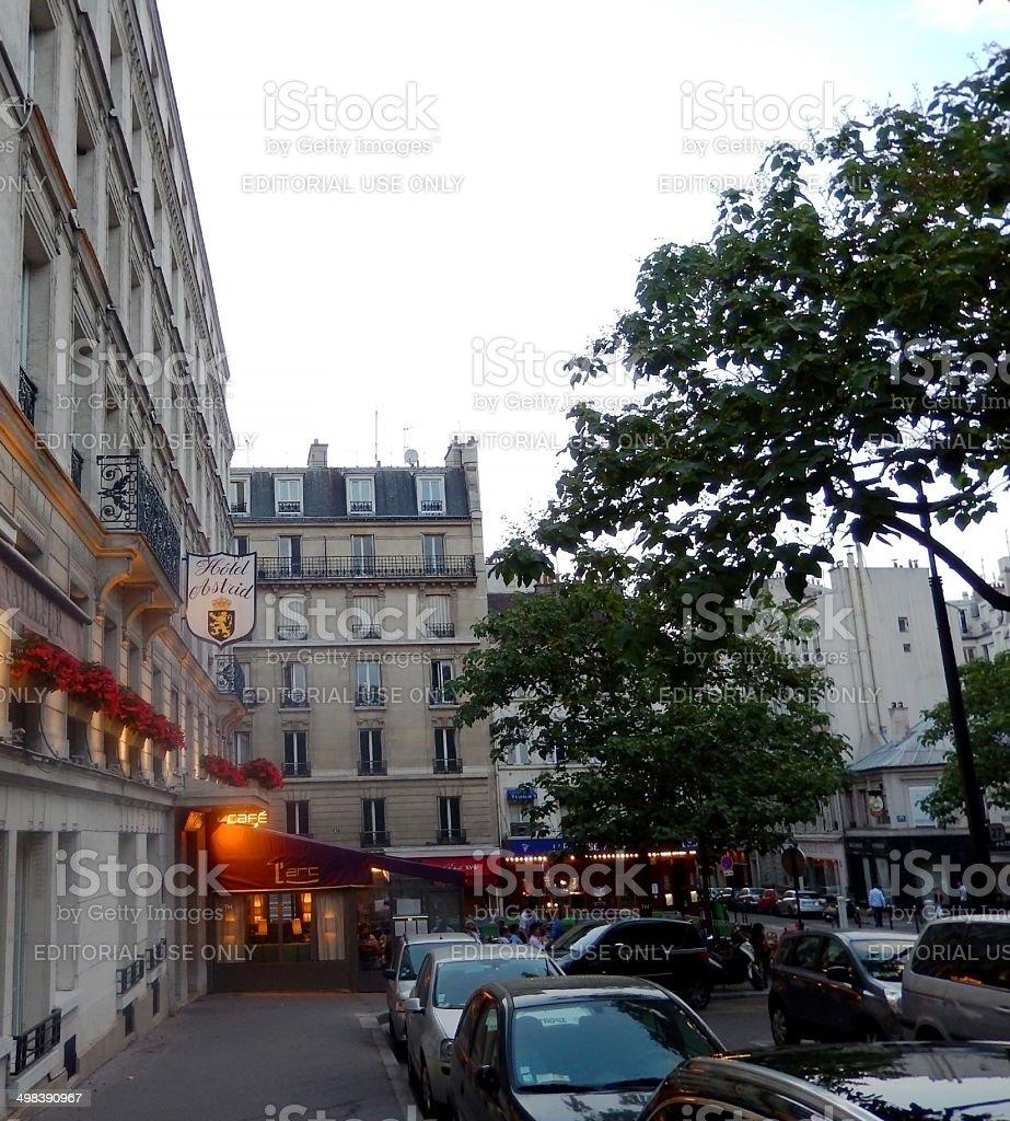 Hotel Astrid auf der Avenue Carnot Lizenzfreies stock-foto