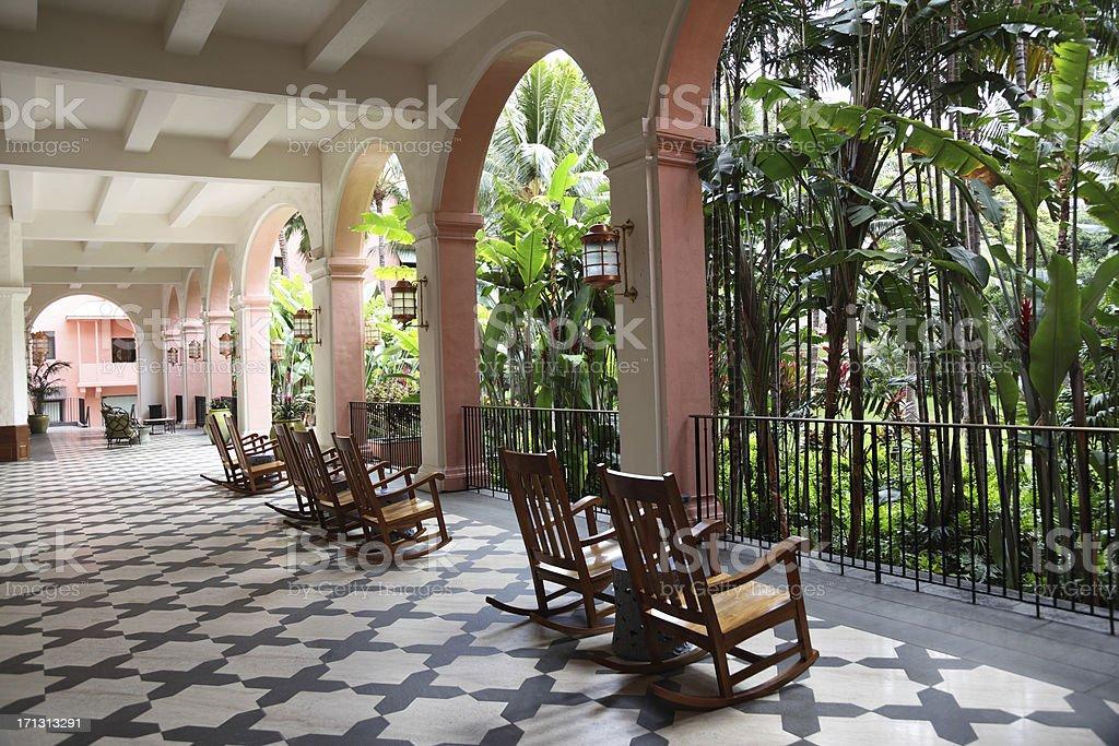 Hotel at Waikiki royalty-free stock photo