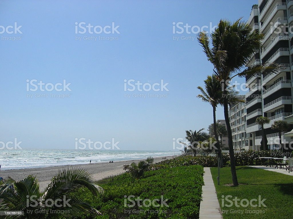 Hotel at West Palm Beach, Florida royalty-free stock photo