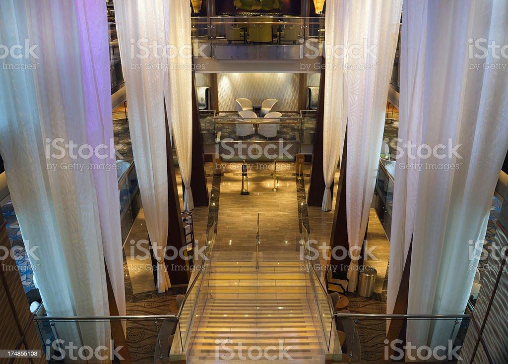 Hotel Atrium royalty-free stock photo