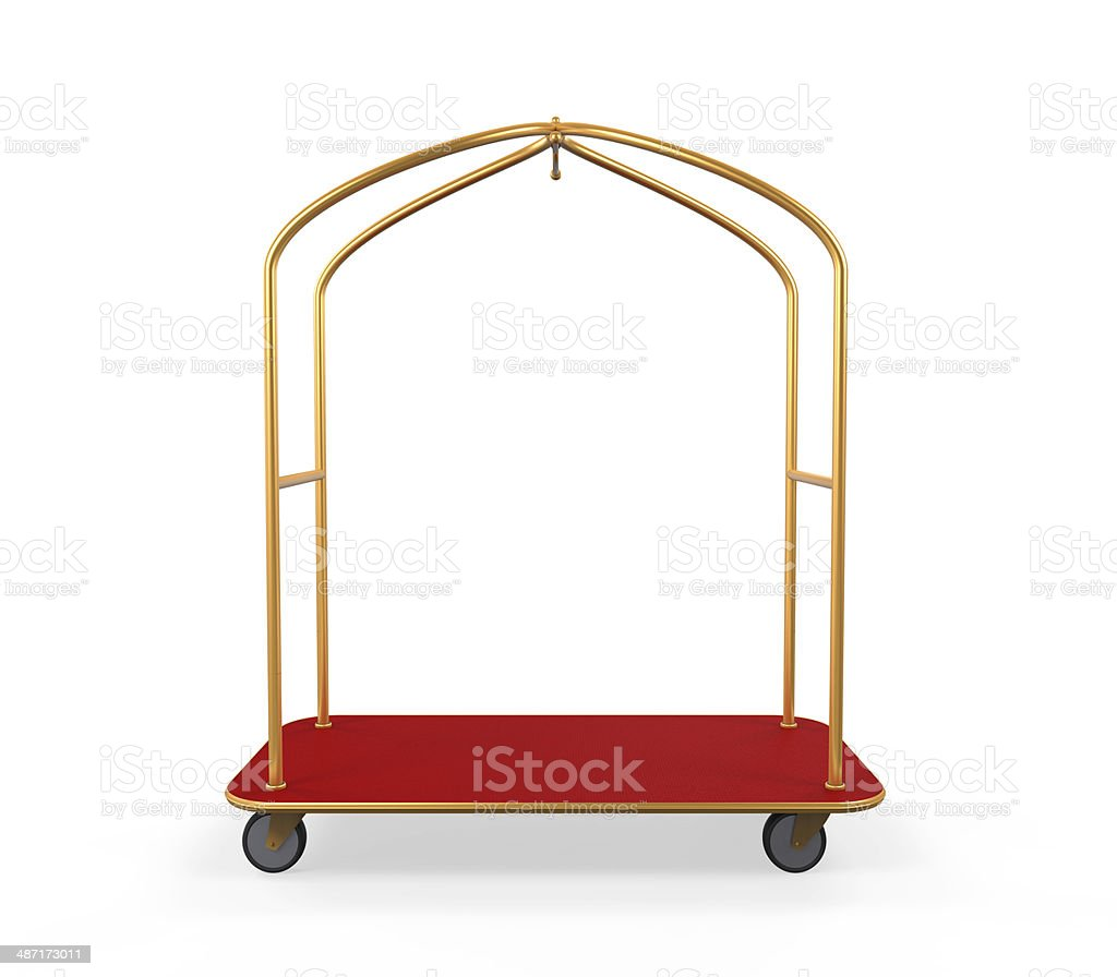 Hotel Baggage Trolley stock photo