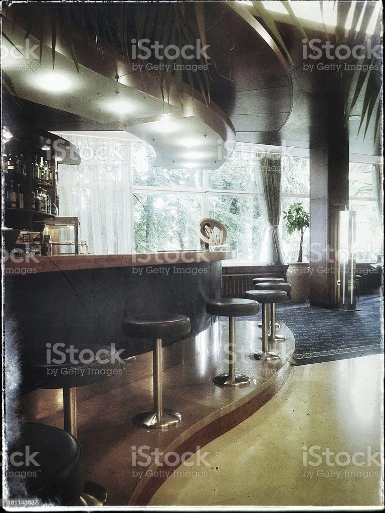 Empty bar in a hotel.