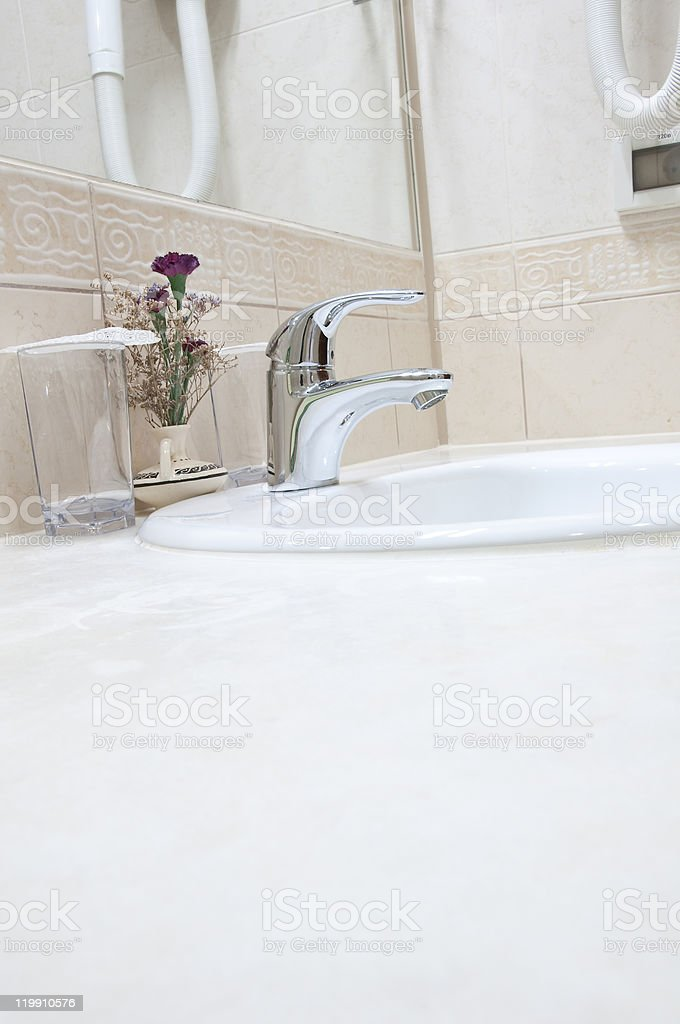 Hotel bathroom royalty-free stock photo