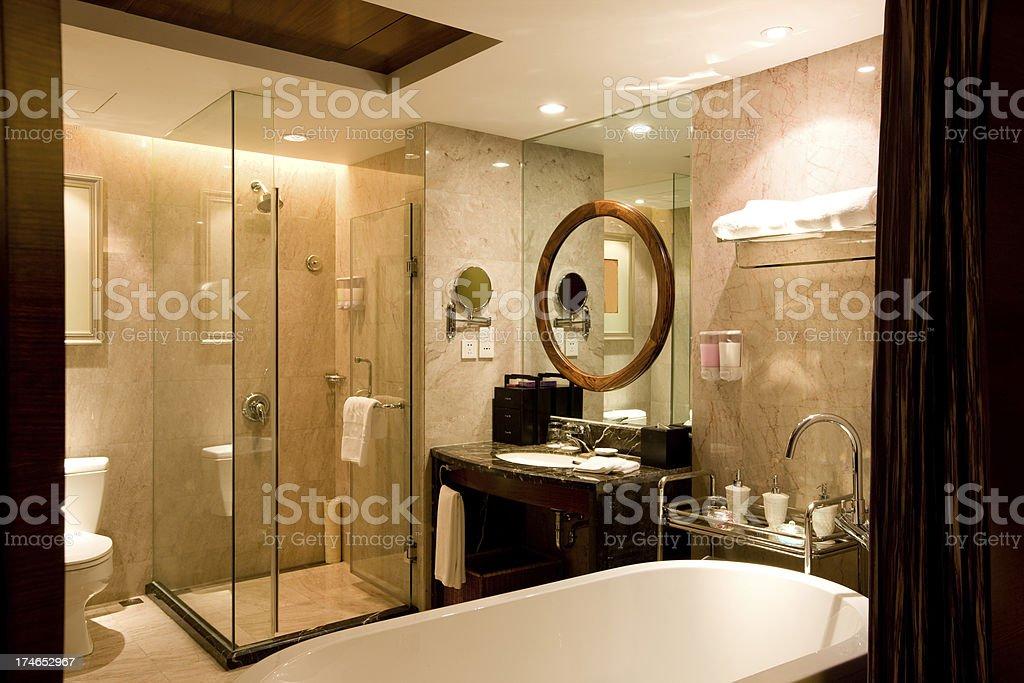 Hotel bathroom royalty-free stock photo