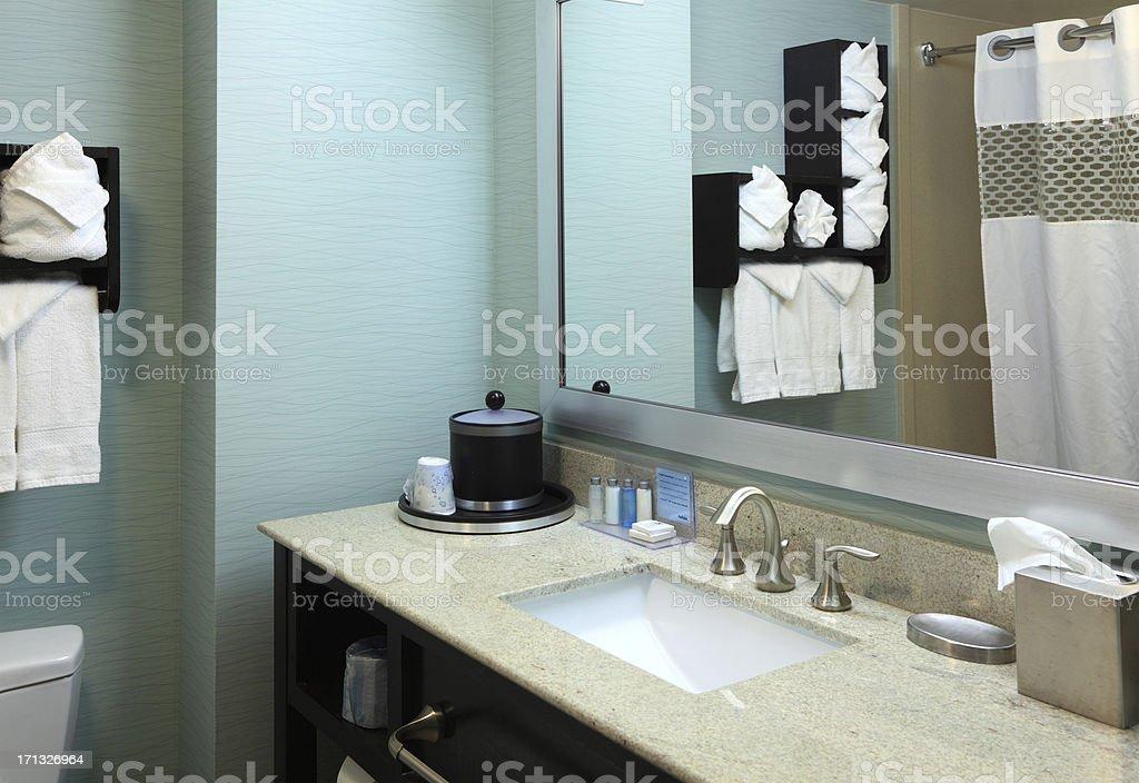 Hotel Bathroom Sink stock photo