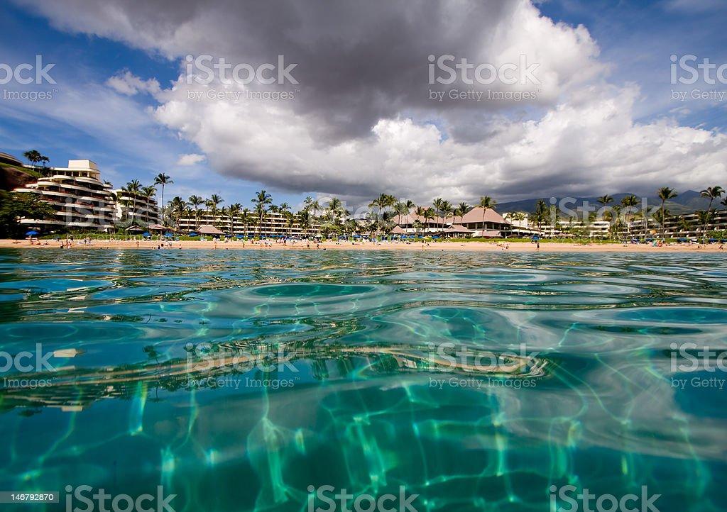 Hotel Beach stock photo