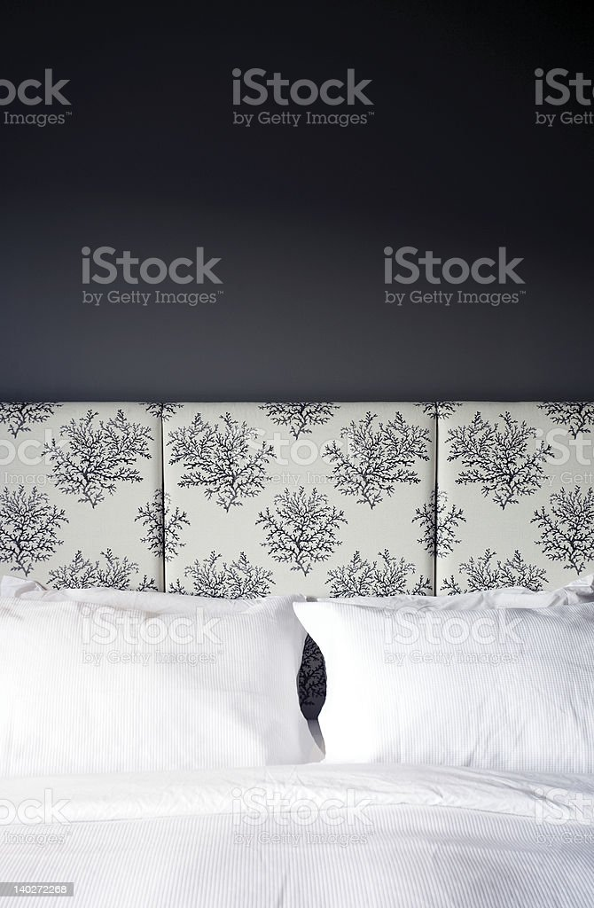 Hotel bed royalty-free stock photo