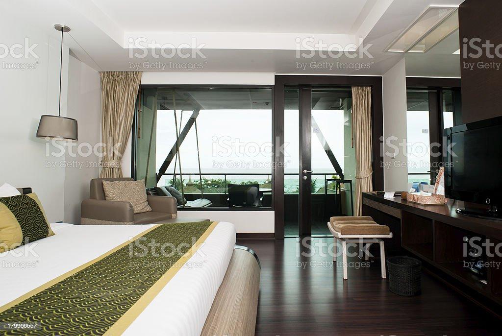 Hotel bedroom royalty-free stock photo