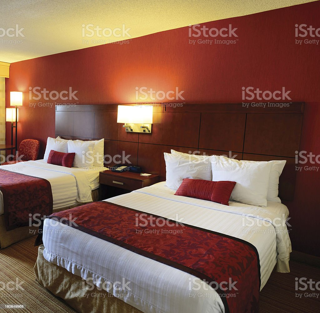 Hotel Bedroom stock photo