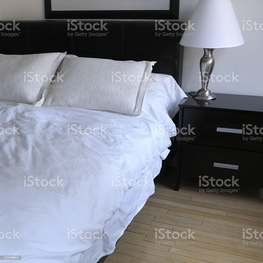 Hotel Bedroom,NYC royalty-free stock photo