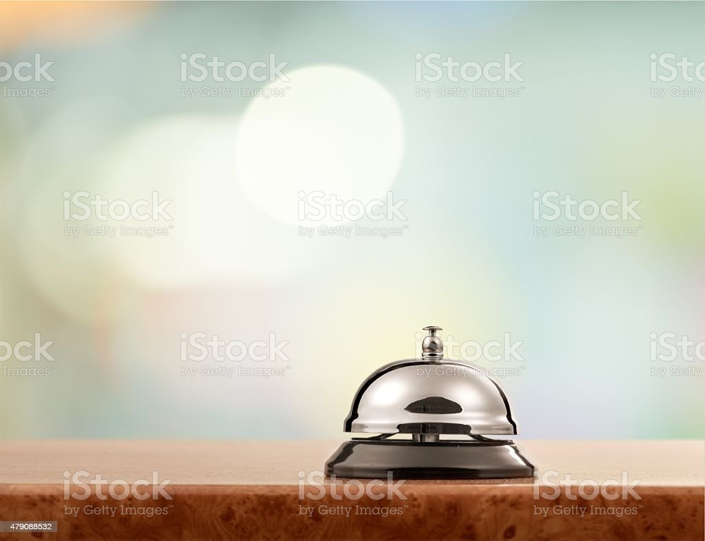 Hotel, bell, hospitality stock photo