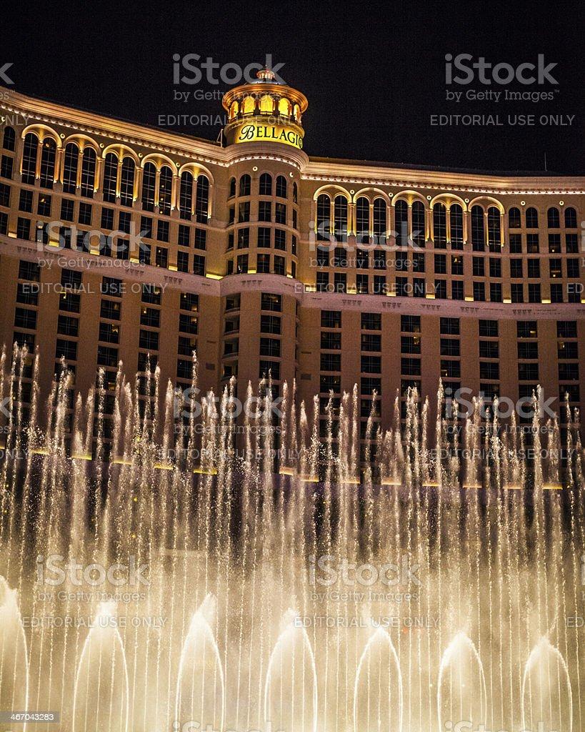 Hotel Bellagio fountain show royalty-free stock photo