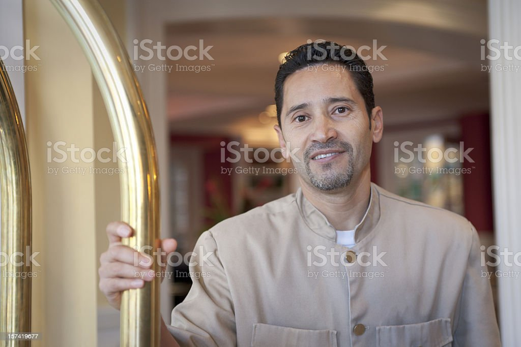 Hotel Bellhop (XXL) royalty-free stock photo