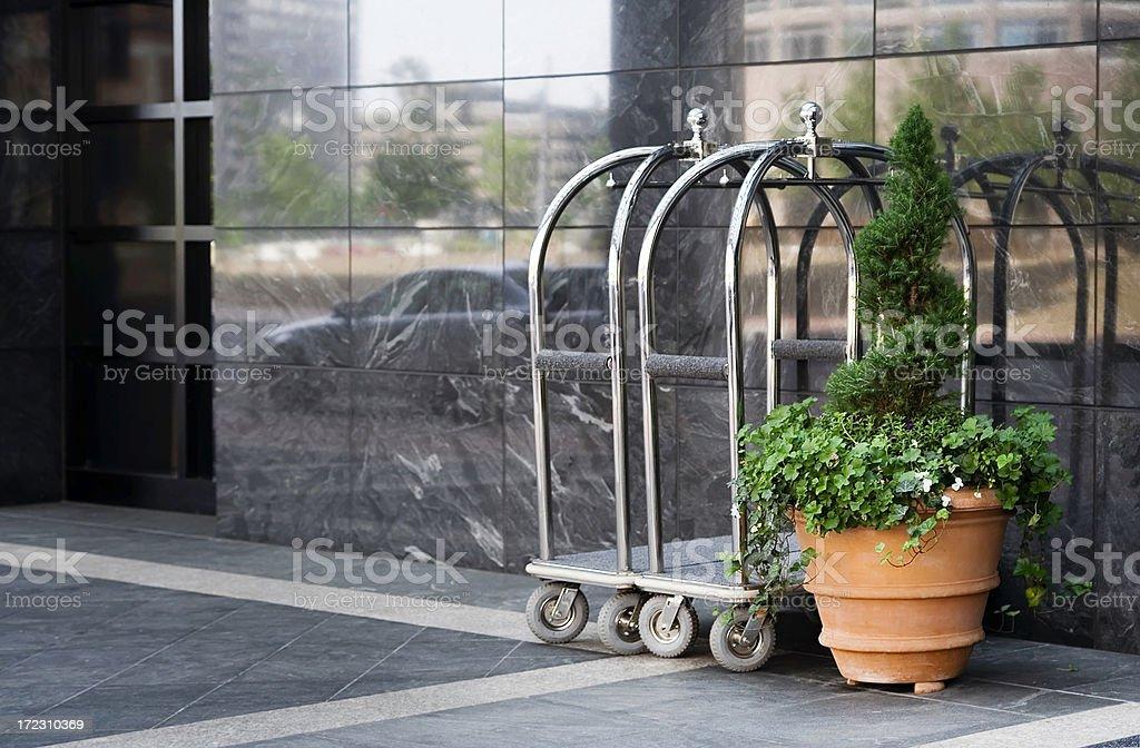 Hotel Bellman Carts royalty-free stock photo