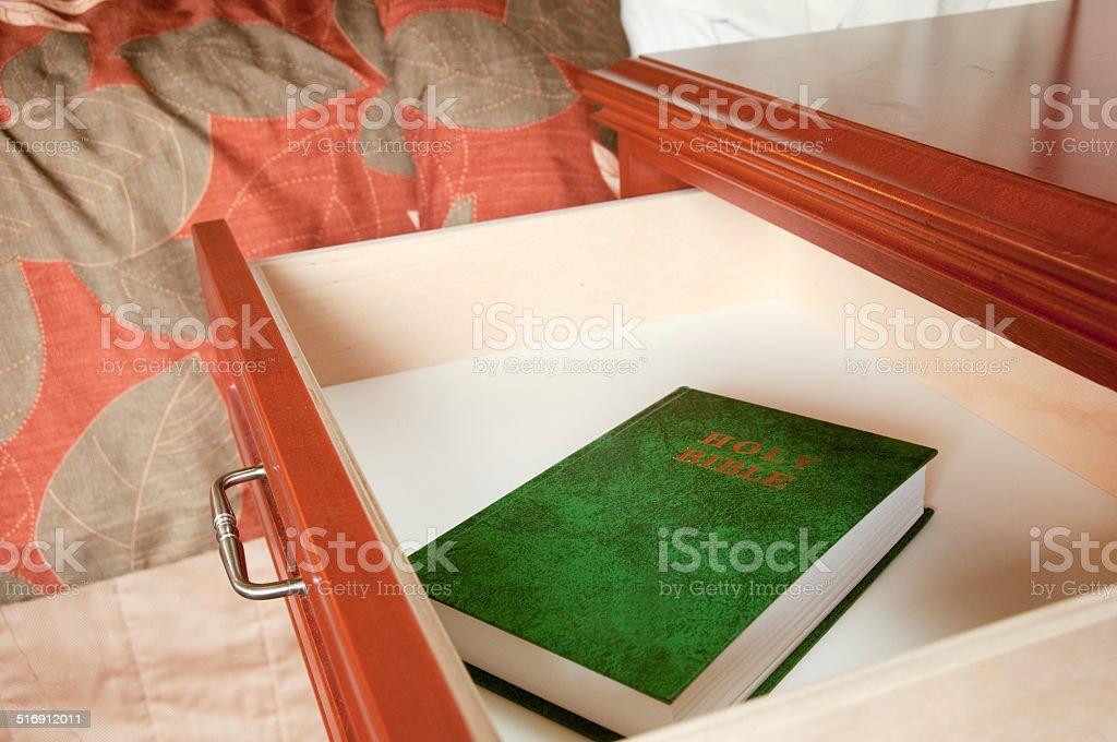 Hotel Bible stock photo